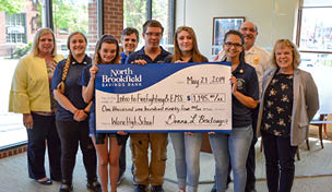 Photo of check toward Tuition Fees for Ware High School Firefighting & EMS Students