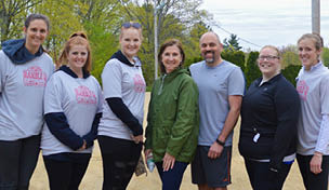 Shown are NBSB employees at the Camp Putnam Ramble Q