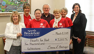 Photo: NBSB presents a donation check to Hearts for Heat