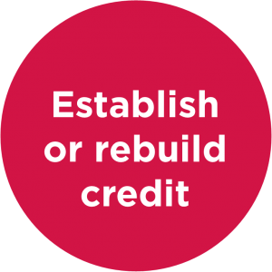 Establish or rebuild credit
