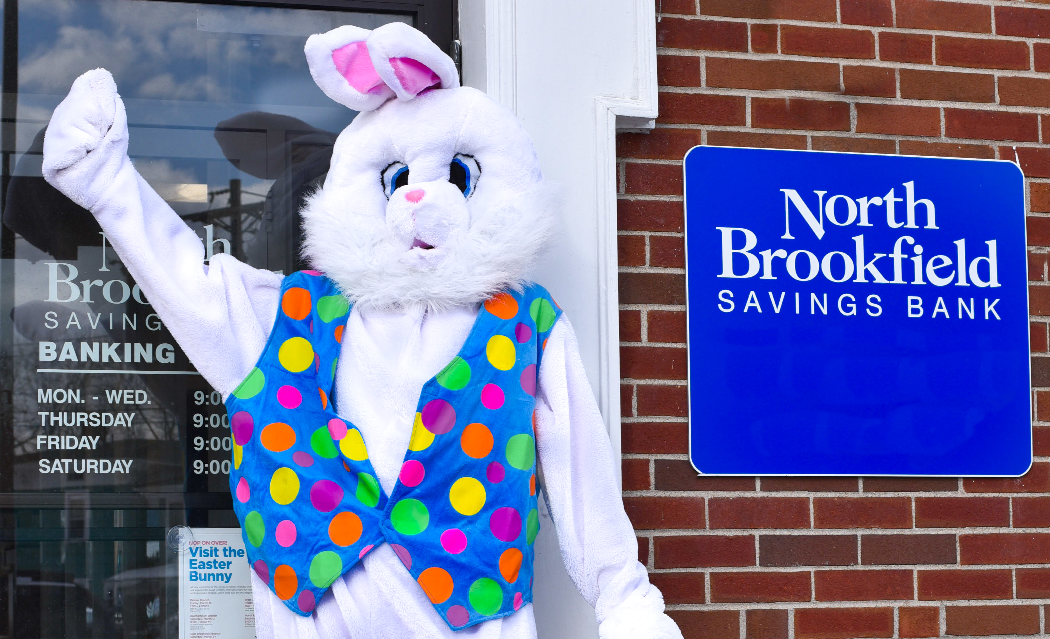 Bring your camera and have fun with the famous seasonal bunny at NBSB!